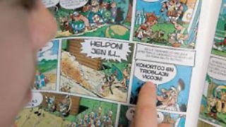 Auch Comics werden in Esperanto gedruckt.