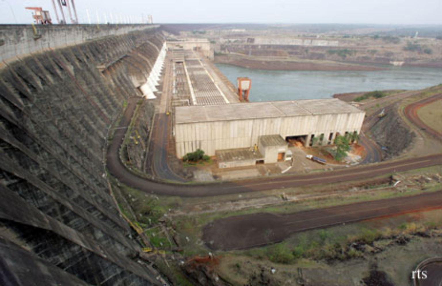 Das Wasserkraftwerk Itaipu (auf Guaran bedeutet das: