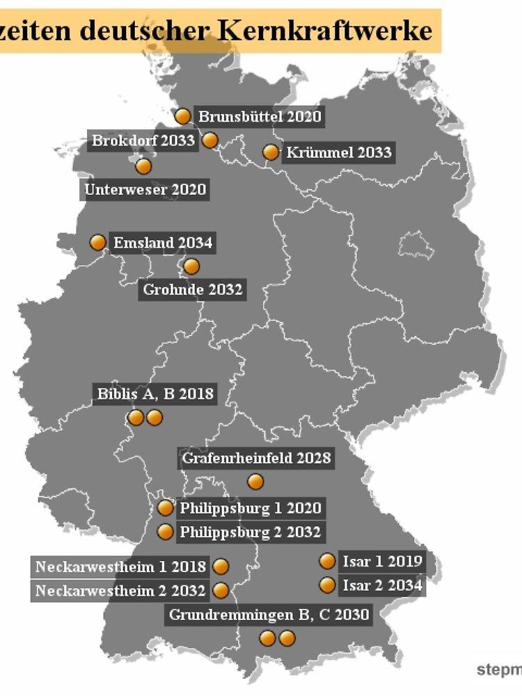 Immer Langer Am Netz Die Atomkraftwerke In Deutschland N Tv De