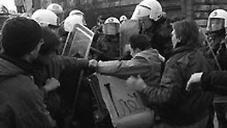 Ausschreitungen in Hamburg 1996.