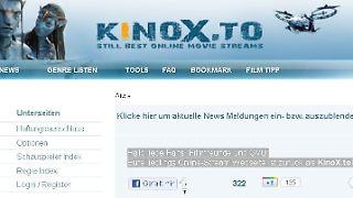 Die Betreiber machen sich in der Begrüßung auf der neuen Seite über die GVU lustig. Screenshot: n-tv