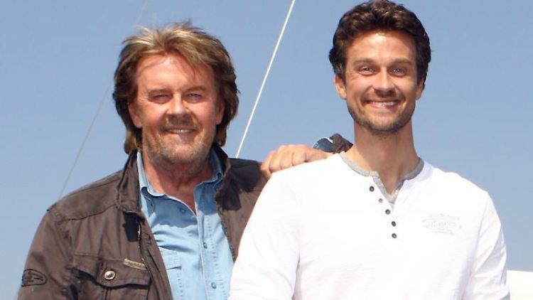 Wayne Carpendale (r) stand zusammen mit seinem Vater vor der Kamera. Foto: Ulrich Perrey