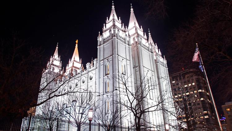 Der Haupttempel der Mormonen in Salt Lake City.