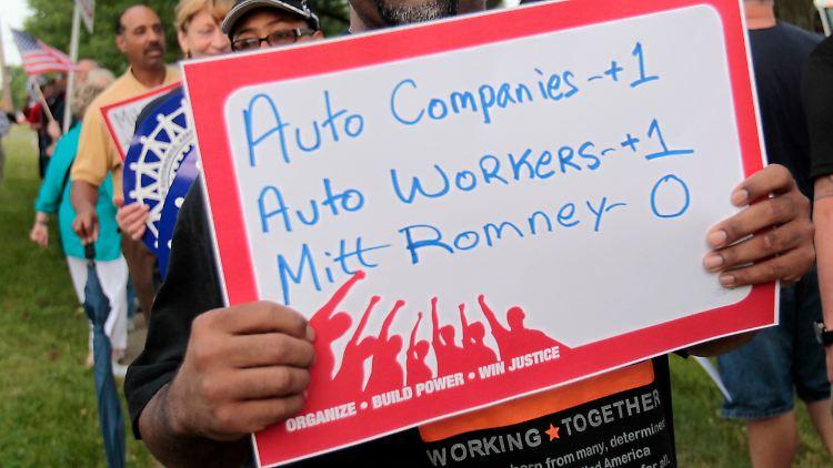 In Michigan nehmen sie Romneys sein Nein zur Rettung von GM noch immer übel.