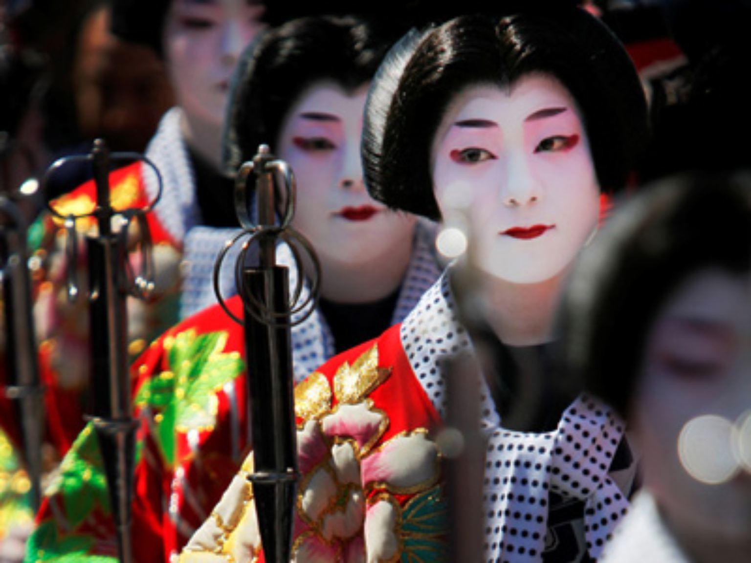 Japanischer Geisha-Sex Reife Muschi-Nahaufnahmen
