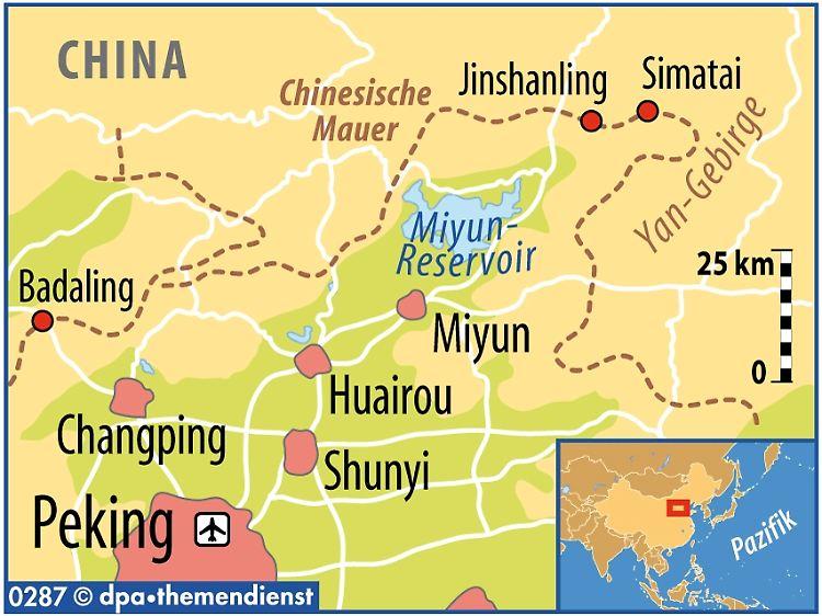 Chinesische Mauer Karte.Frühes Aufstehen Lohnt Allein Auf Der Echten Mauer N Tv De