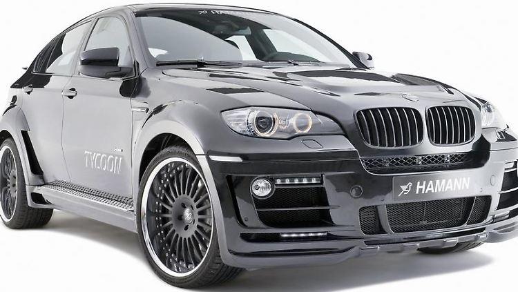 Breiter als normal: der Hamann Tycoon Evo M auf Basis des BMW X6 M. (Bild: Hamann/dpa/tmn)