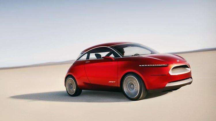 Kleinwagen auf Abwegen: Das «Start Concept» ist Fords Entwurf für ein neues Stadtauto. (Bild: Ford/dpa/tmn)