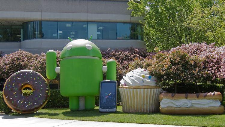 Der grüne Roboter ist das Markenzeichen von Android.
